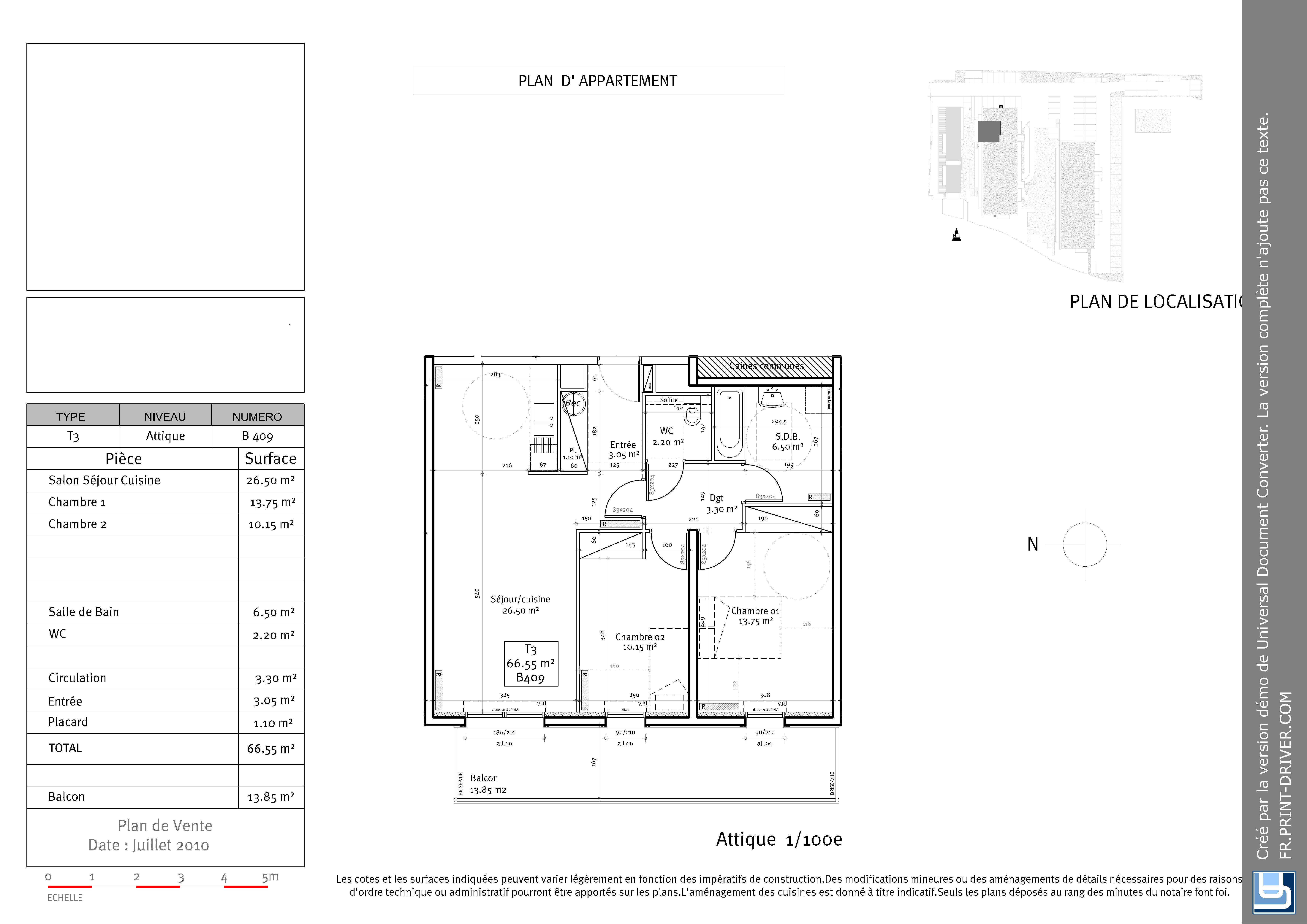 Appartement t3 neuf brest rive gauche partir de 164 for Plan appartement 150 m2