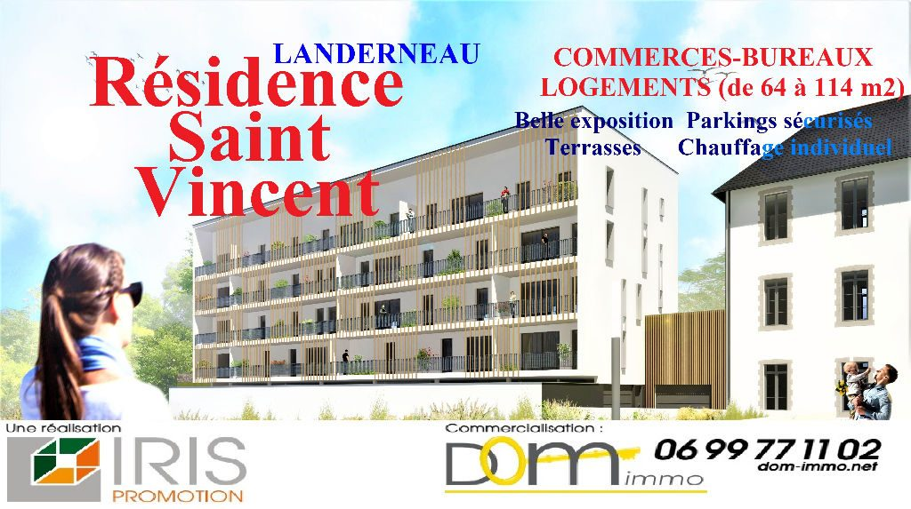 Appartements du T3 au T6 landerneau centre BBC ascenseur parking couvert sécurisé