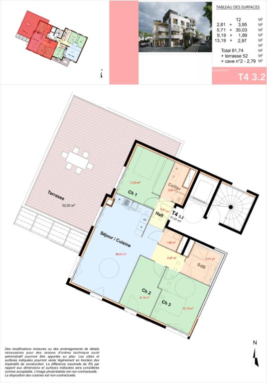 appartements neufs du T2 au T5 brest guipavas centre ascenseur parking terrasse BBC