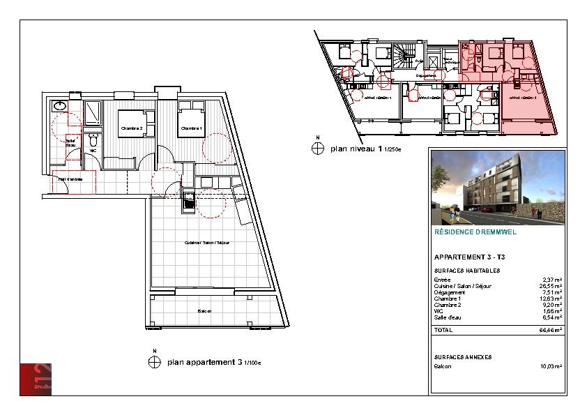 appartements neufs saint martin des champs, morlaix, centre ville ascenseur terrasses parkings et garages