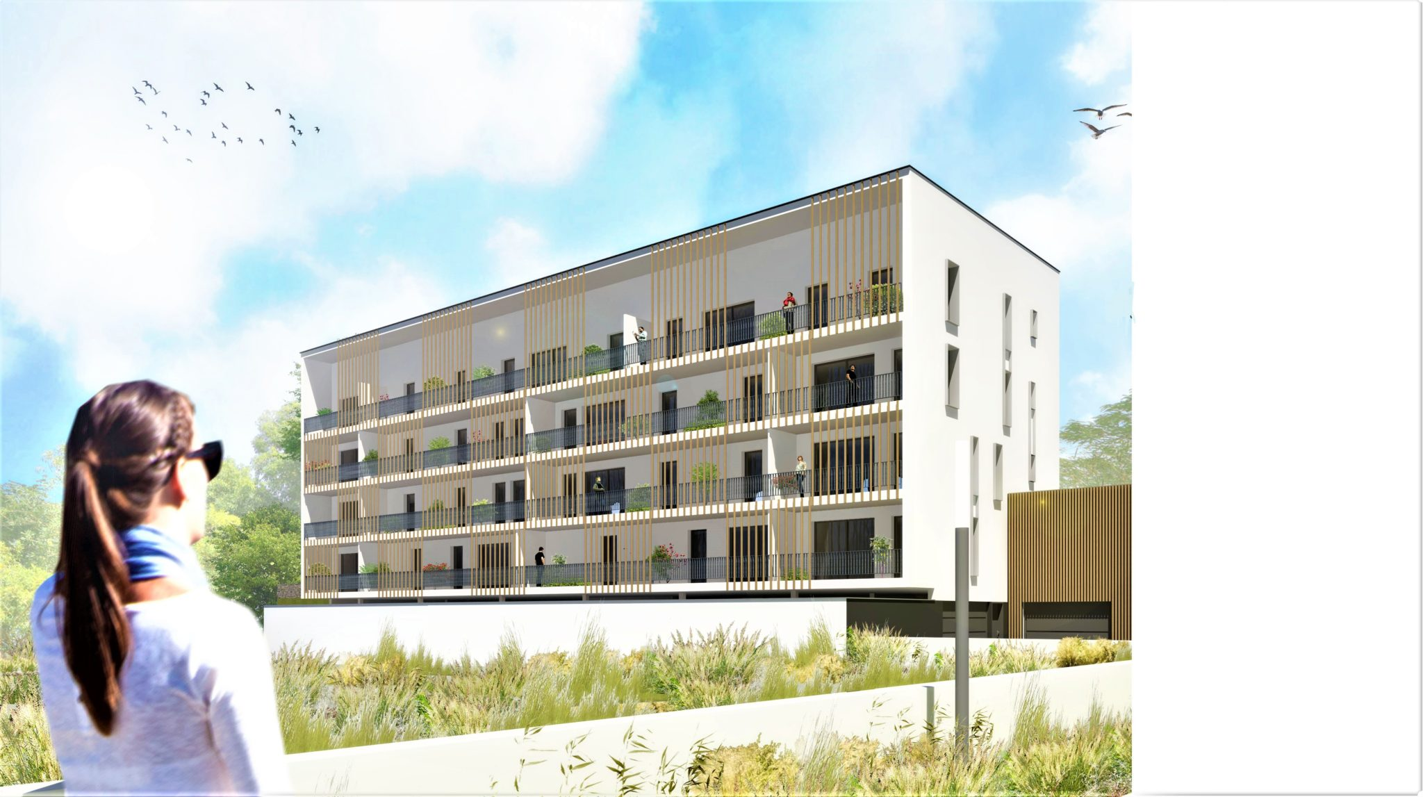 Landerneau centre appartement neuf T3 ascenseur parking