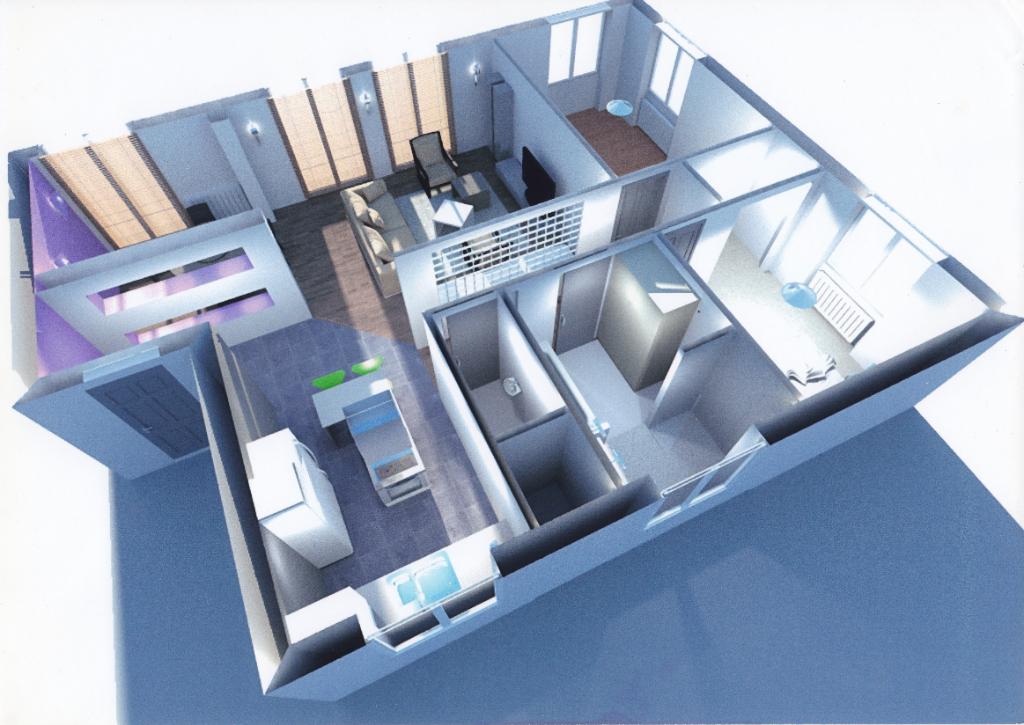 brest hypercentre appartement T4 rénové avec garage, vue sur la penfeld